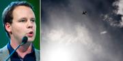 Rickard Nordin (C)/bild på flygplan. TT
