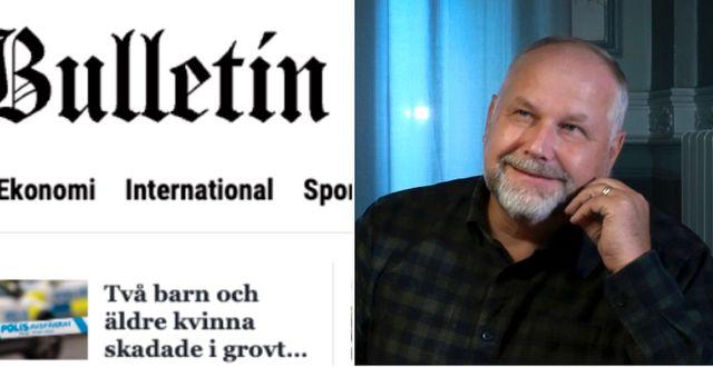 Bulletin, Sjöstedt. Skärmdump, TT