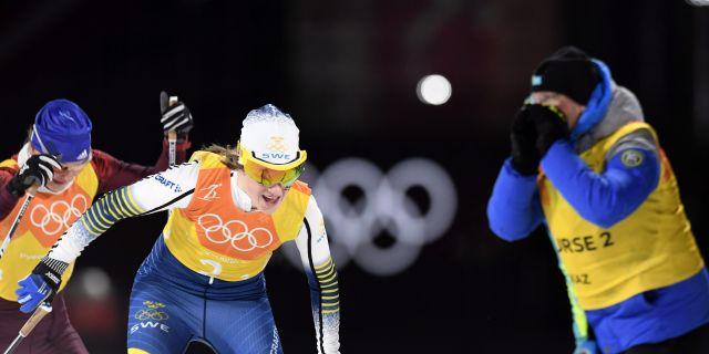 Ebba Andersson under vinter-OS i Pyeongchang 2018. Heikki Saukkomaa / TT NYHETSBYRÅN