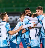 Norge firar 1-0. LUDVIG THUNMAN / BILDBYRÅN