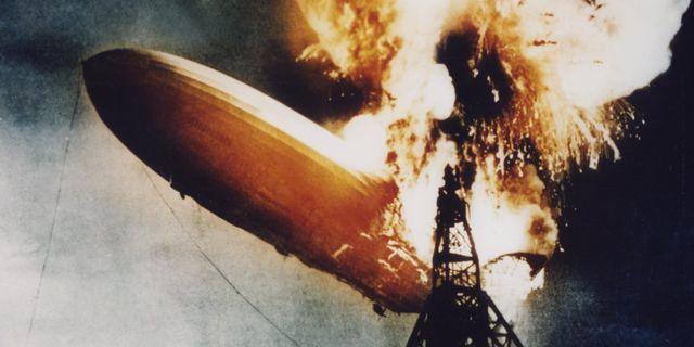 Luftskeppet Hindenburg exploderade i ett hav av eld när det skulle landa i USA år 1937. TT SWEDEN / TT NYHETSBYRÅN