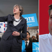 Theresa May, Graham Brady.  TT / Wikipedia