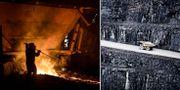 En av SSAB:s masugnar, Bolidens Aitik-gruva. Arkivbilder. TT
