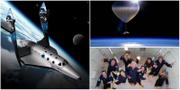 2016 kan bli året som rymdresorna slår igenom på allvar. Virgin Galactic / World View / Zero Gravity Corporation