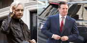 Arkivbilder: Assange/Manafort. TT