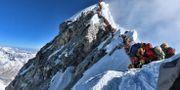 Bild från Mount Everest den 22 maj. HANDOUT / Project Possible
