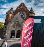 Lokal för förtidsröstning i kyrkovalet i Malmö. Johan Nilsson/TT / TT NYHETSBYRÅN