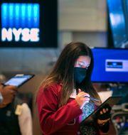 Investeraren Ashley Lara på New York Stock Exchange, 2021. Courtney Crow / TT NYHETSBYRÅN