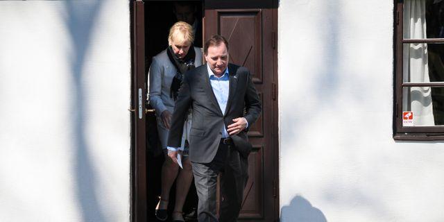 Margot Wallström/Stefan Löfven. Johan Nilsson/TT / TT NYHETSBYRÅN