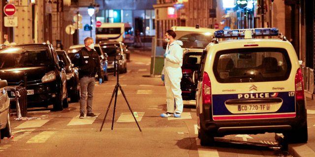 Polis på plats efter dådet. GEOFFROY VAN DER HASSELT / AFP