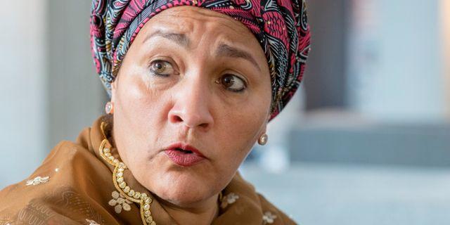 Amina Mohammed, vice generalsekreterare för FN.  Kallestad, Gorm / TT NYHETSBYRÅN
