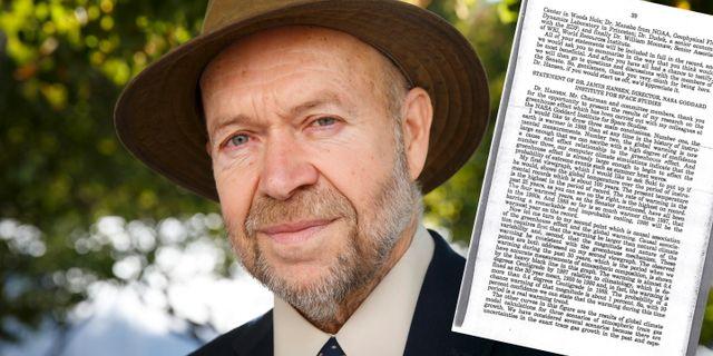 James Hansen 2015, vittnesmålet till senaten 1988. Poppe, Cornelius / TT NYHETSBYR≈N
