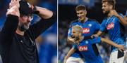 Jürgen Klopp, Napolis Dries Mertens firar målet. TT