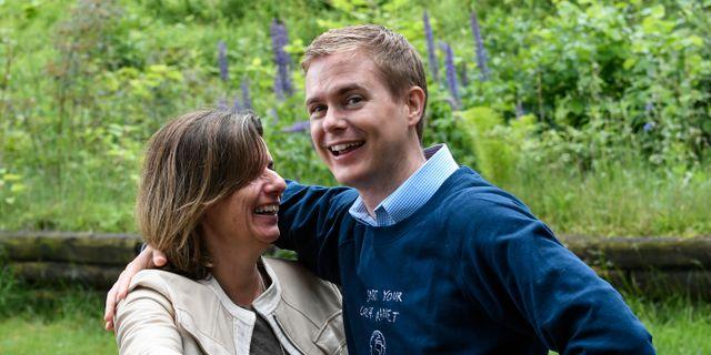 Klimatminister Isabella Lövin och utbildningsminister Gustav Fridolin.  Johan Nilsson/TT / TT NYHETSBYRÅN