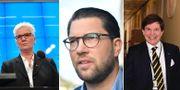 Jimmie Åkesson (SD) och SD får nu makten att avgöra talmansfrågan: Åsa Lindestam (S) eller Andreas Norlén (M)? TT