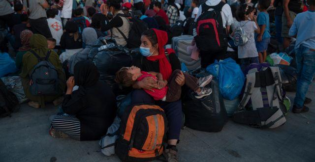 Flyktingläger i Grekland. Petros Giannakouris / TT NYHETSBYRÅN