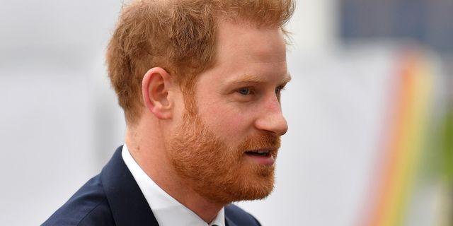 Prins Harry vid sitt sista uppdrag i London som kunglighet. BEN STANSALL / AFP