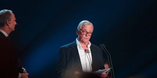 """Klas Bergling tar emtot årets hederspris som tilldelats sonen Tim """"Aviccii"""" Bergling.  Christine Olsson/TT / TT NYHETSBYRÅN"""