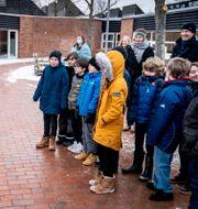Danmarks statsminister Mette Frederiksen besöker skolklass. Illustrationsbild. Mads Claus Rasmussen / TT NYHETSBYRÅN
