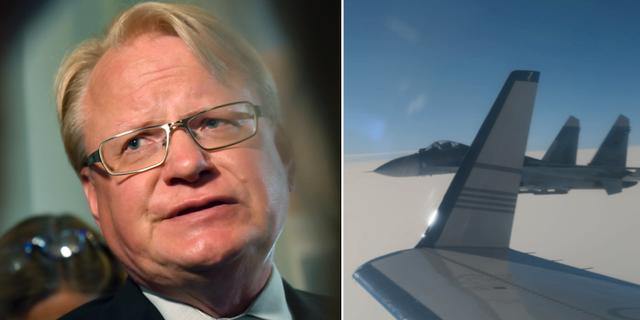 Peter Hultqvist, arkivbild/bild från incidenten tidigare i veckan. TT/Försvarsmakten