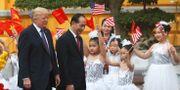 USA:s president Donald Trump och Vietnams president Tran Dai Quang under Trumps statsbesök i Hanoi i november 2017.  KHAM / TT NYHETSBYRÅN