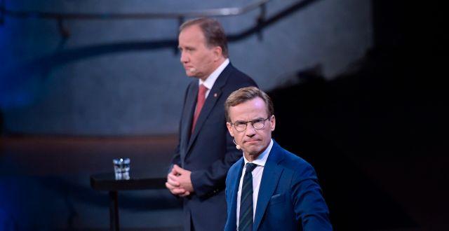 Stefan Löfven (S) och Ulf Kristersson (M). Anders Wiklund/TT / TT NYHETSBYRÅN