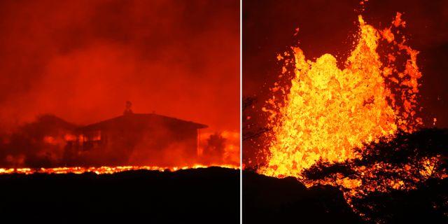 Vulkanutbrottet på Hawaii. TT