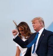 Donald Trump och hustrun Melania Trump. Susan Walsh / TT NYHETSBYRÅN