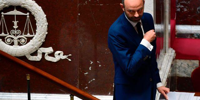 Philippe i parlamentet. MARTIN BUREAU / AFP