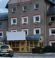 Platsen där explosionen skedde.  Jonas Dagson/TT / TT NYHETSBYRÅN