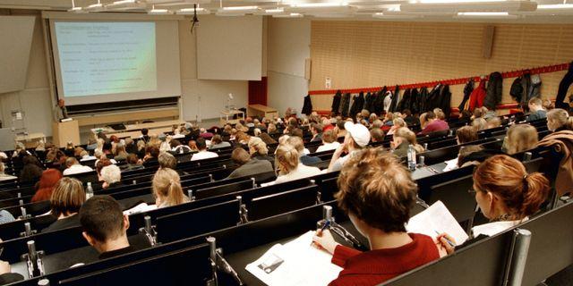 Föreläsningssal. Arkivbild. ERIK G SVENSSON