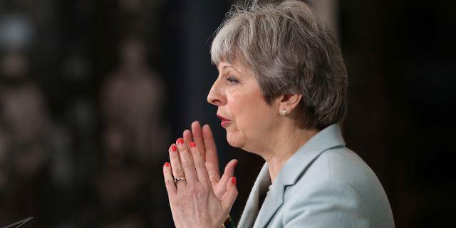 Storbritanniens premiärminister Theresa May.  POOL / TT NYHETSBYRÅN