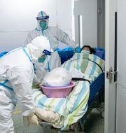 Bild från ett sjukhus i Wuhan i slutet av januari Xiong Qi / TT NYHETSBYRÅN