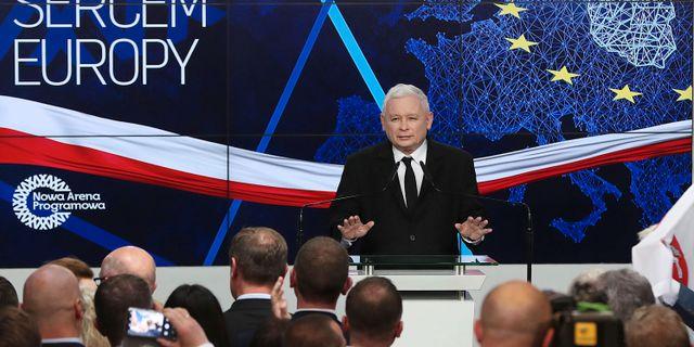 Jaroslaw Kaczynski, ledare för PiS-partiet Czarek Sokolowski / TT NYHETSBYRÅN