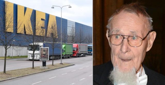 Ikea i Kungens kurva och Ingvar Kamprad. TT.