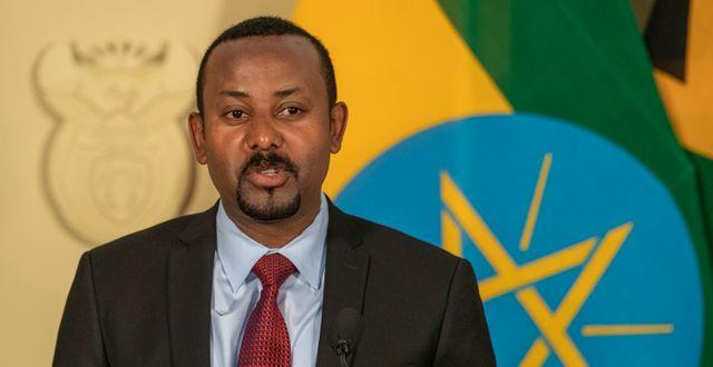 Etiopiens premiärmininster Abiy Ahmed. Themba Hadebe / TT NYHETSBYRÅN
