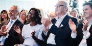 Liberalernas avgående partiledare Jan Björklund, Nyamko Sabuni, Lennart Persson och Erik Ullenhag under partiets extra landsmöte på Clarion hotell i Stockholm Erik Simander / TT / TT NYHETSBYRÅN