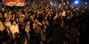 Protester i Karbala i lördags. ABDULLAH DHIAA AL-DEEN / TT NYHETSBYRÅN