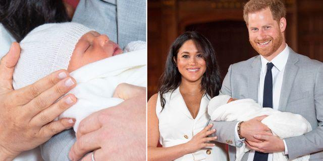 Meghan och Harry tillsammans med sonen Dominic Lipinski / POOL / AFP / TT