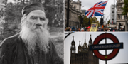 Leo Tolstoj till vänster.  Wikimedia / TT