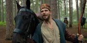 "Gustaf Skarsgård som Merlin i ""Cursed"". COURTESY OF NETFLIX"