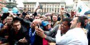 Italiens vice premiärminister Matteo Salvini kampanjar i Milano. ALESSANDRO GAROFALO / TT NYHETSBYRÅN