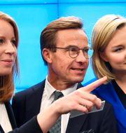 Annie Lööf, Ulf Kristersson, Ebba Busch Thor och Jan Björklund.  Henrik Montgomery/TT / TT NYHETSBYRÅN