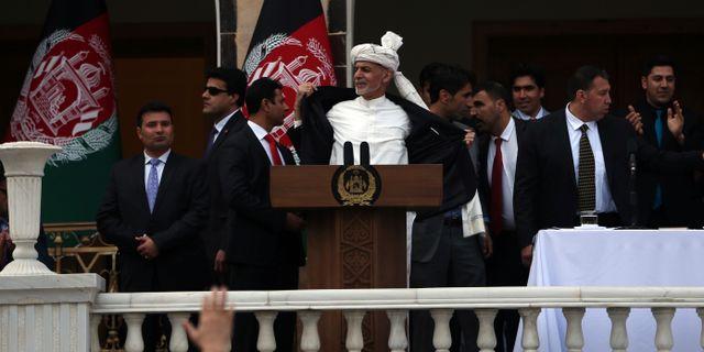 Ashraf Ghani.  Rahmat Gul / TT NYHETSBYRÅN