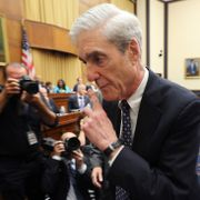 Robert Mueller i går.  CHIP SOMODEVILLA / GETTY IMAGES NORTH AMERICA