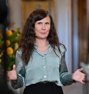 Miljöpartiets språkrör Märta Stenevi (MP) under sitt tal på årets Almedalsvecka.  Stina Stjernkvist/TT / TT NYHETSBYRÅN