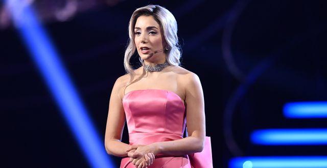 Gina Dirawi under Idol-finalen 2018. Stina Stjernkvist/TT / TT NYHETSBYRÅN