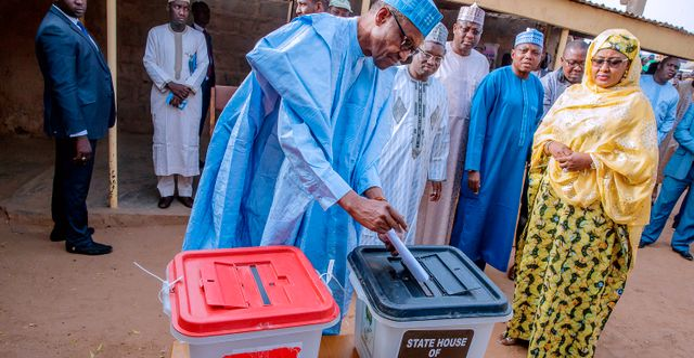 Buhari röstar idag. HANDOUT / TT NYHETSBYRÅN