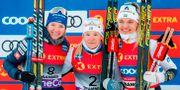 Schweiziskan Nadine Fähndrich och svenskorna Jonna Sundling och Linn Svahn. TERJE BENDIKSBY / TT NYHETSBYRÅN