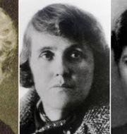 Selma Lagerlöf, Moa Martinson och Elin Wägner. TT.